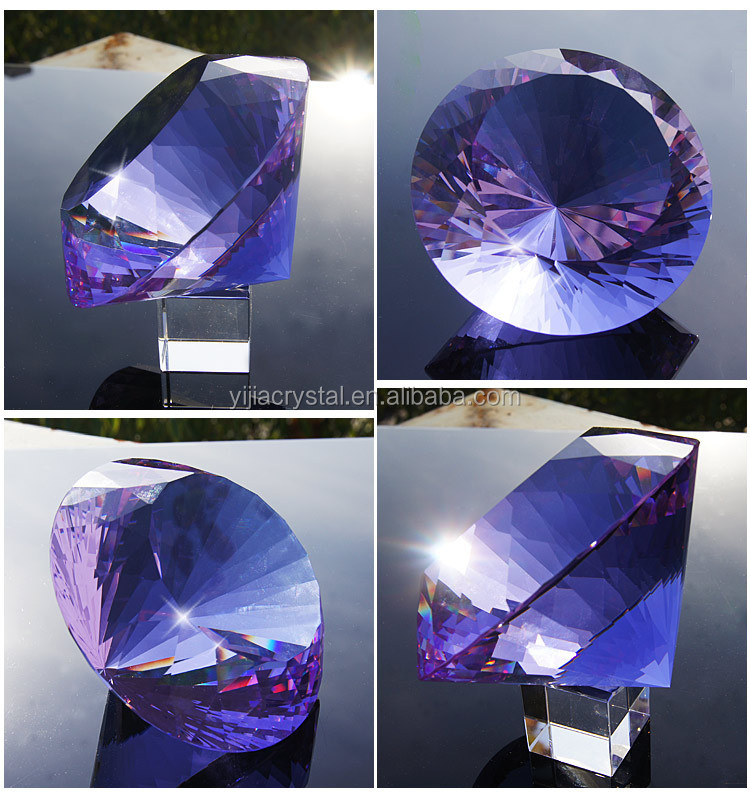 Optical Dark Blue Crystal Diamond For Wedding Give Away Gifts