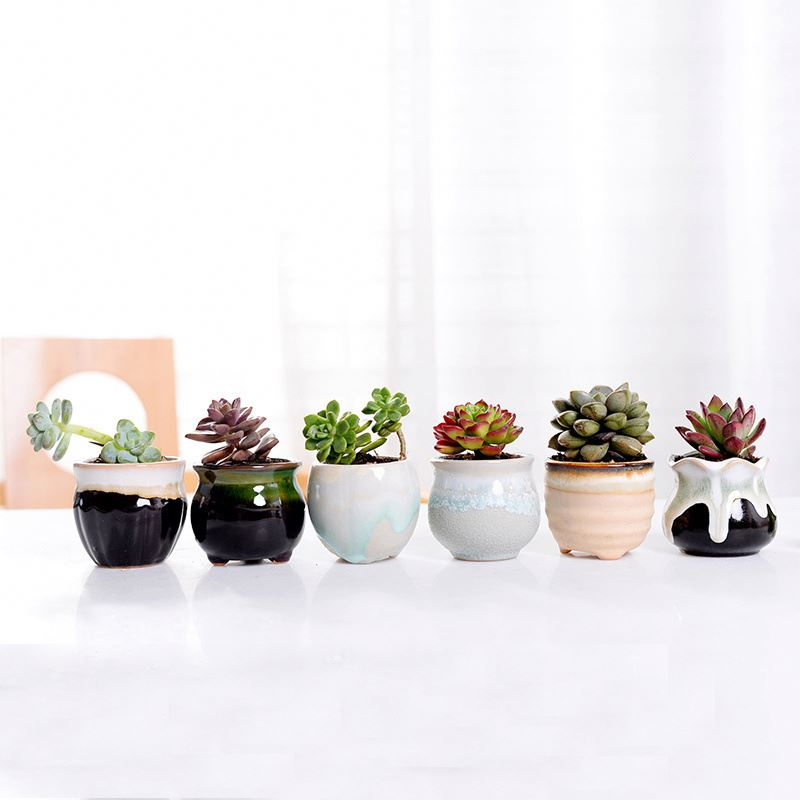 Wholesale custom design small ceramic flower pots planter ceramic succulent planter