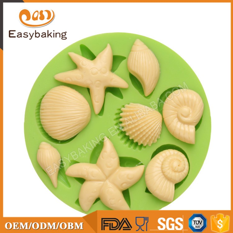 ES-0510 Ocean Animal Series Silicone Molds Fondant Mould for cake decorating