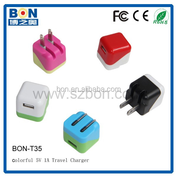2017 5V 1A Cube cell phone usb Travel Charger Universal USB Home Wall charger for phone6 and tablet