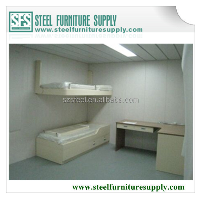 steel wall mounted pullman bed, galvanized steel ship cabin foldable bed, offshore steel single bed
