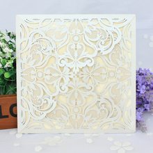 Wholesale Price Laser Cut Lace Luxurious Engagement Wedding Marriage Invitation Cards