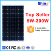 PV panel solar 50w 75w 80w 100w 200w 300w factory solar panel price