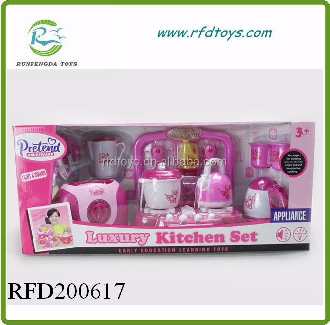 Kids mini kitchen play set with music and light cooking for Kitchen set video song