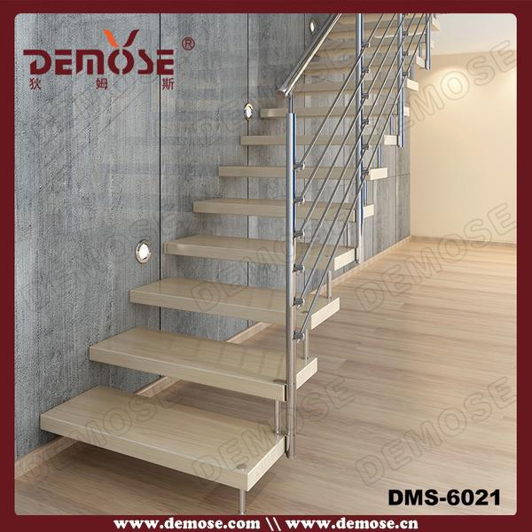 Prefabricated Floating Stairs Construction With Hidden Stringer