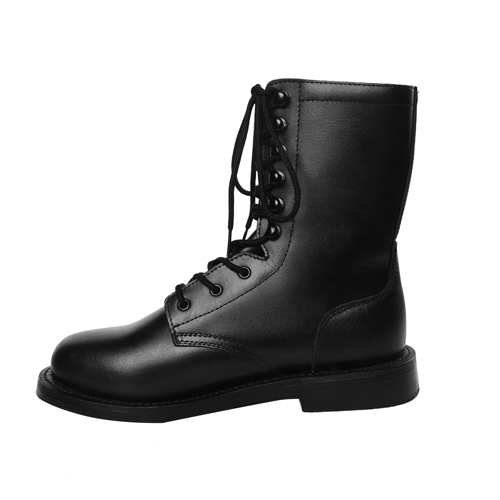 Manufacturer Xinxing Black Military Boots Army Tactical Boots Split Leather Rubber Sole for Military Training Factory MB68