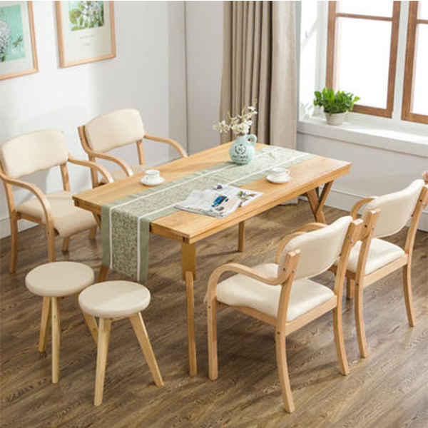 MD-DC-2068 Ash wood wooden furniture designs upholstered dining chair