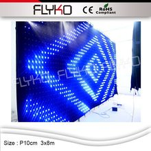 Flyko hoge helderheid P100mm Concert Stage Achtergrond <span class=keywords><strong>led</strong></span> wall Indoor Full Color Flexibele <span class=keywords><strong>LED</strong></span> Mesh Gordijn Video Wall Scherm