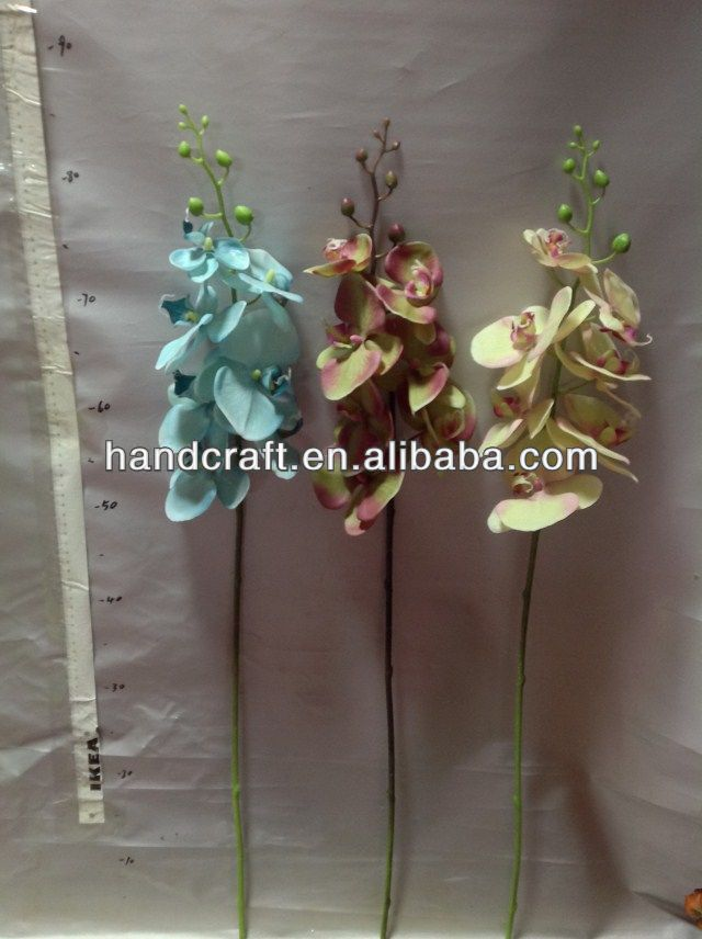 silk white butterfly orchids flowers stand for wedding favors