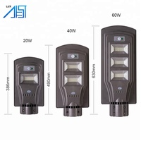 Alibaba China 20W/40W /60W All In One Integrated Motion Sensor Solar Power Lighting Led Street Light