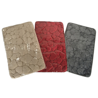 fashion New products embossed flannel 100% polyester modern rug set