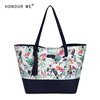 2018 new model digital printed floral PU leather reversible bag handbags set,shoulder bags for ladies