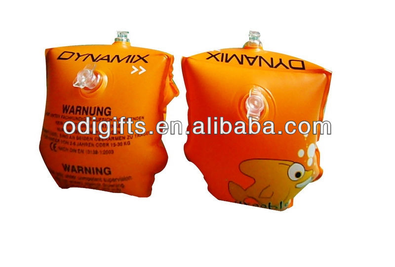 Inflatable arm bands baby swiming ring kids water wing