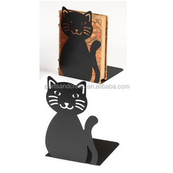 Metal Black Cheap Cat Bookend