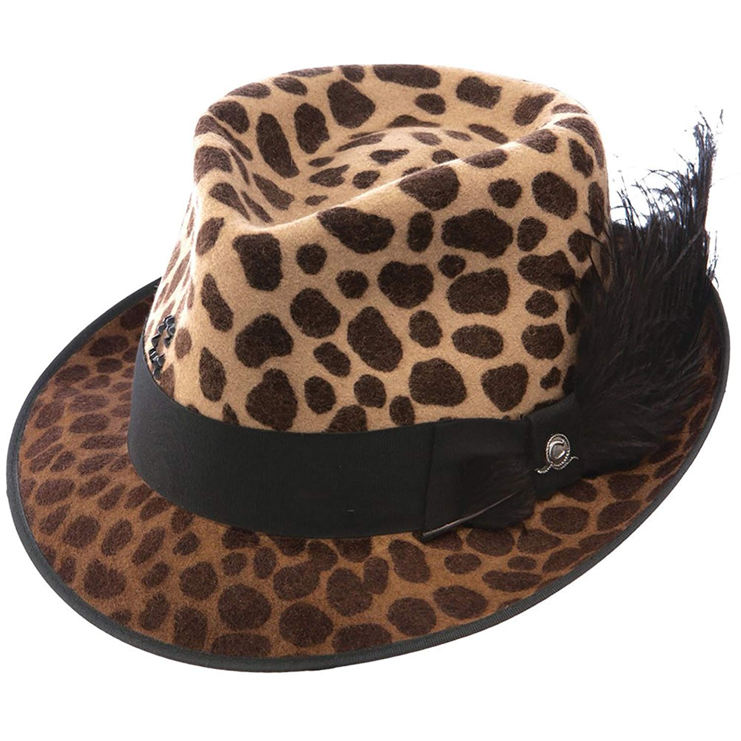 894c072372616 Get Quotations · Charlie 1 Horse Hats Womens Leopard On The Prowl Fedora Hat