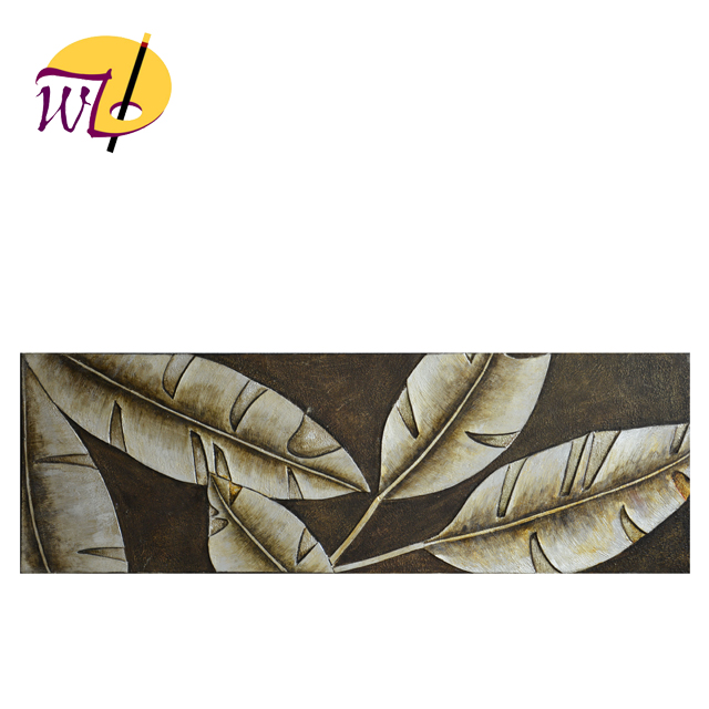 3D Relief Banana Leaves Oil Painting on Canvas for Wall Arts Still Life For Oil Painting