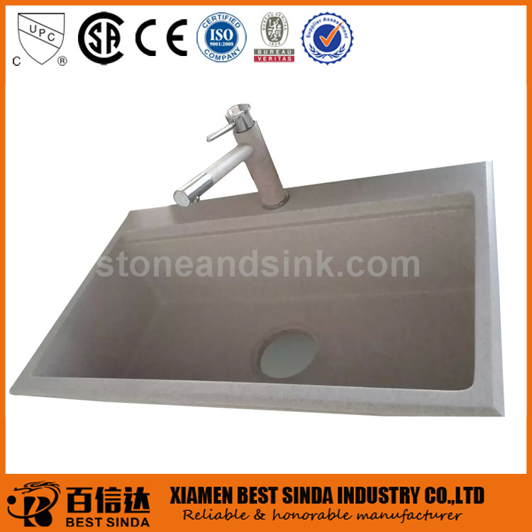 New style above counter quartz sink for kitchen