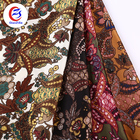 soft and smooth woven paisley print bubble dress material polyester satin fabric