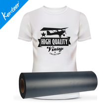 Kenteer Fashion Sourcing high quality black flock heat transfer vinyl