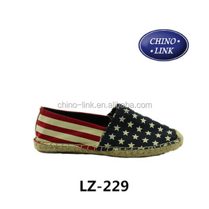beijing cloth shoes canvas shoes espadrille american flag pattern