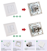LY-FP53-B+FP48-B+KJ6A-16 face plate rj45 faceplate wall outlet network information outlet Keystone Jack Face Plate