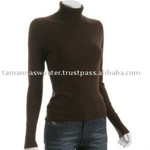 Cashmere touch garment dyed ladies sweater