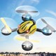 360 flips 6 axis system small RC flying UFO with led navigation lights