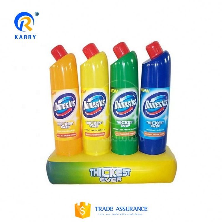 detergent colourful bottle inflatable advertising/ factory price inflatable bottle duplicate