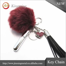 Pom Pom Fur All Key Chain For Bags