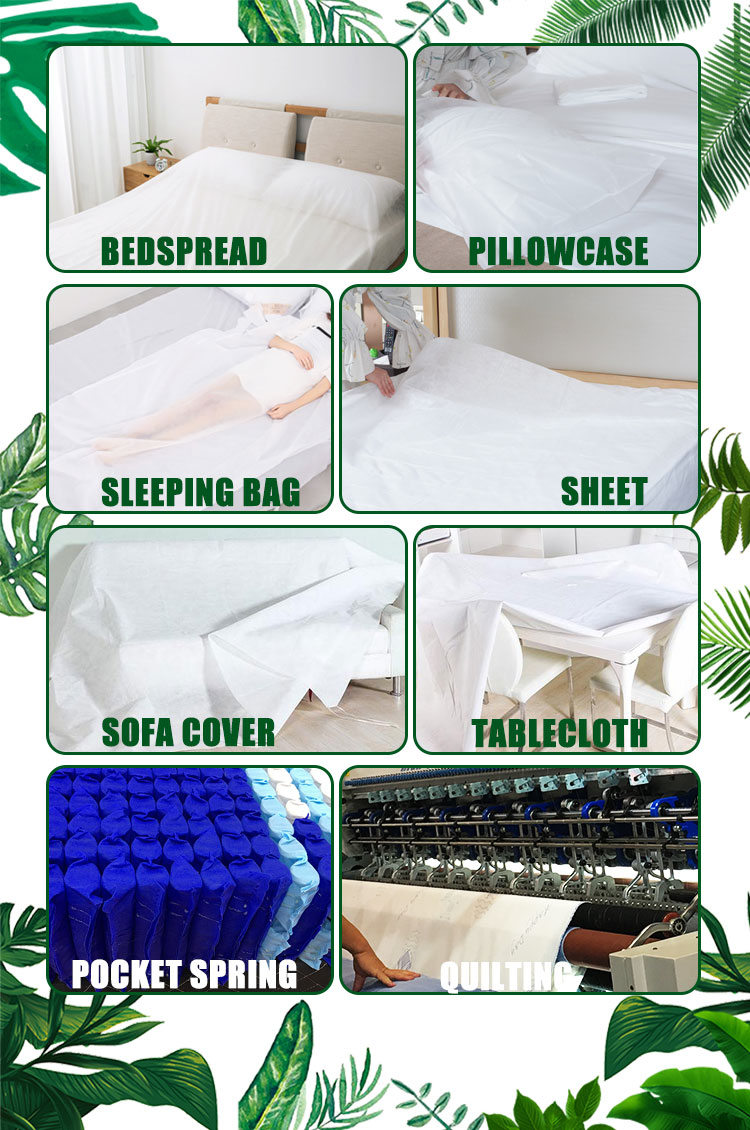 bed sheet Disposable in roll nonwoven fabric PP nonwoven roll