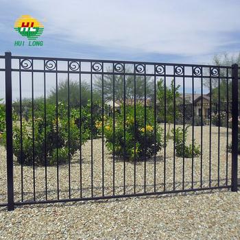 Black Aluminum Decorative Fence Panels Steel Security Fence Buy Steel Security Fence Decorative Fence Steel Fence Product On Alibaba Com