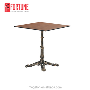 Wood Top Industrial Style Western Restaurant Cafe Table