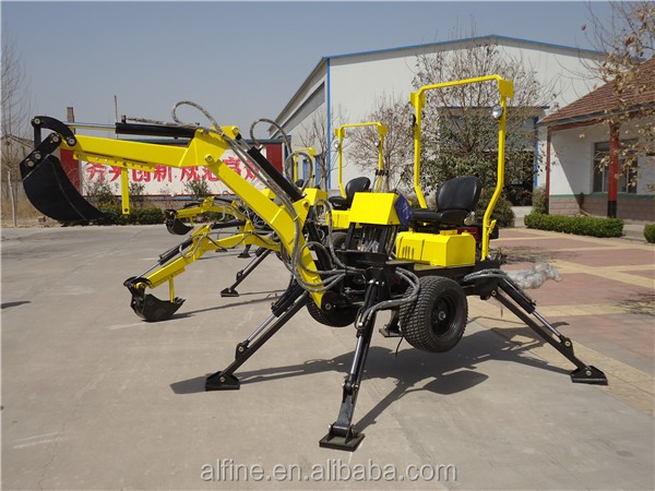 China manufacturer high efficiency gasoline backhoe