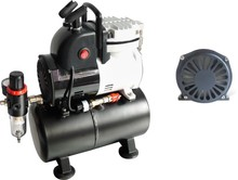 Single cylinder dual pressure tank graphic spray pump air compressor(oil-free)AF189