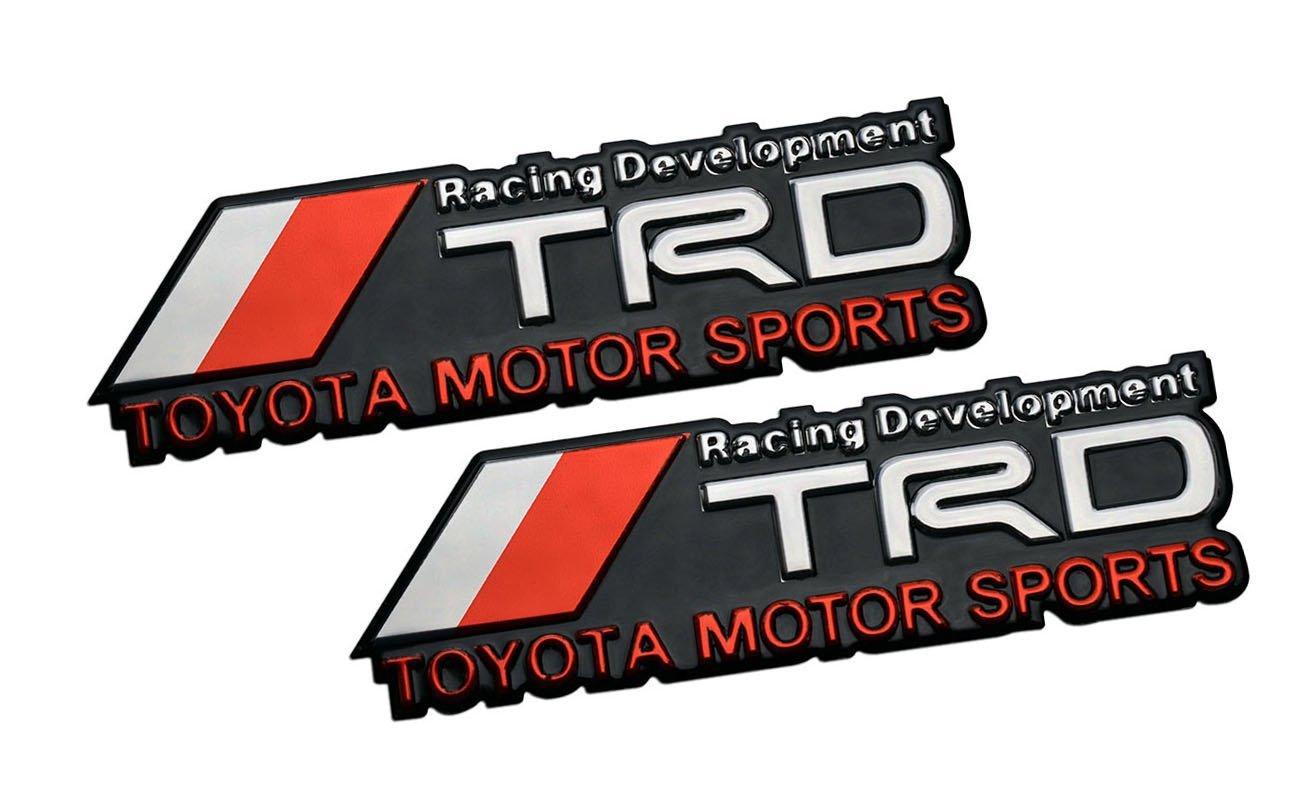 Buy Trd Toyota Motor Sports Racing Development Aluminum Emblem Badge Decal Nameplate Rare For Matrix Corolla Pontiac Vibe Scion Tc Xb Xa Xd Camry Sienna Solara Tacoma T100 Tundra 4runner Aurion Fj