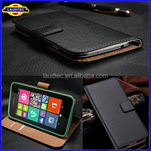 Genuine Wallet Case For Microsoft Lumia 535 Real Leather Case ...