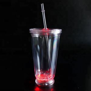 Shenzhen factory high quality bar party favor supply plastic OEM led flashing Champagne cup