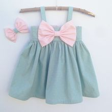 Toddler Girls Princess Cotton Bow Clothing Kids Summer Sleeveless Top outfits Children Boutique Ruffled Flower Dresses Clothes