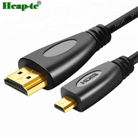 1M 2M 3M Gold Plated 3D 1080P micro hdmi to hdmi cable for mobile phone, camera