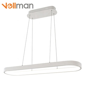 New Modern Metal acrylic glass ring ceiling hanging lamp Dimming pendant lighting Dali/0-10v/PWM/SCR/