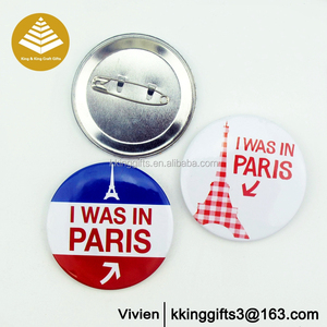 Custom reusable metal pin badge promotion sublimation pin button wholesale mini lapel pin badge hight quality round name badge