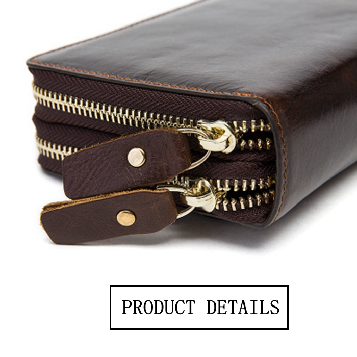 Wholesale Multipocket Large Capacity Fashion Man Clutch Bag Portable Double Zipper Wallet With Phone Pocket