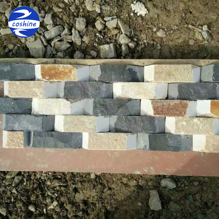 Irregular natural stone exterior wall cladding designs, stacked ledge stone for sale