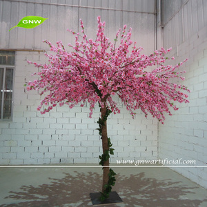 GNW BLS1507012 Handmade fabric flowers artificial cherry blossom pink led cherry blossom tree