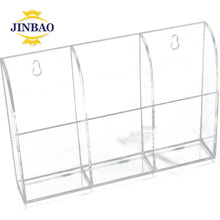 JINBAO Mini Acrylic TV Remote Control Candy Box Holder Makeup Box Stand Home Storage Rack Sundries Organizer Container