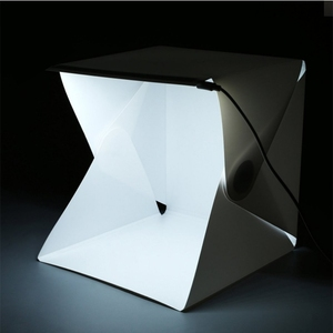30*30*30 Mini Folding Detachable Photo Studio Portable LED Light Box Photography Studio With White/Black Backgrounds