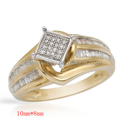 Design Gold Plated Jewelry Ring For Women Arabic Gold Wedding Rings