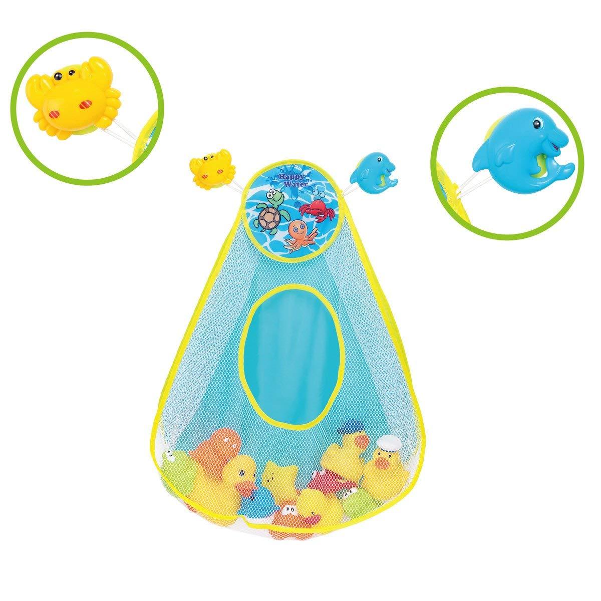 CatchStar Bath Toy Organizer Quick Dry Net Toy Storage Durable Holder for Baby Bathroom Bathtub Toys