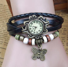 2017 Leather belt Wrap butterfly vintage fashion lady watches ladies
