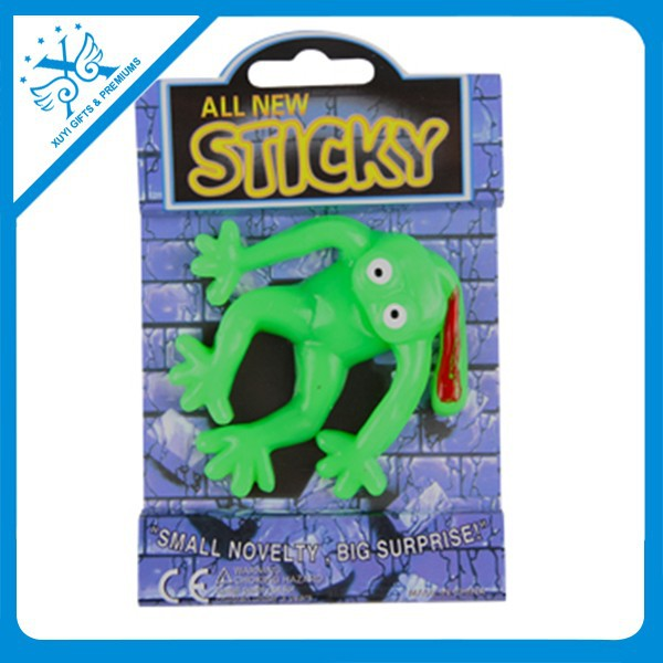 promotion items and souvenir novelty unique gifts sticky frog toys